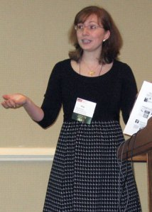Meg presenting at NEMA2009