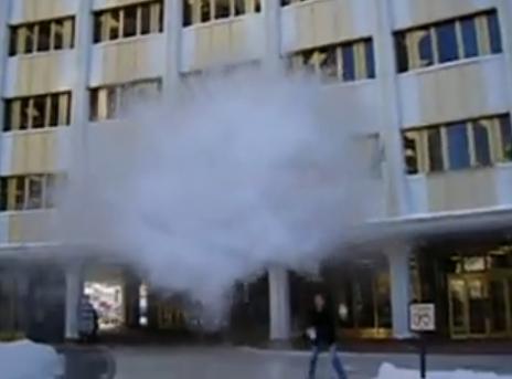 Boiling Water Flash Frozen