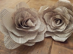 Found poetry in altered books brain popcorn paper roses made from book pages by twigg studios mightylinksfo