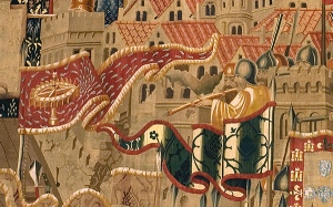 Detail from the Pastrana tapestries