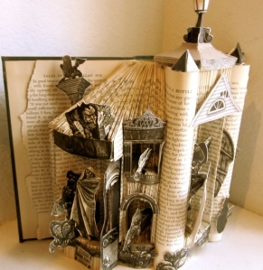 Poe's Short Stories, altered book art by Susan Hoerth