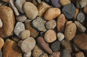 Pebbles on a Martha's Vineyard beach, photo links to source