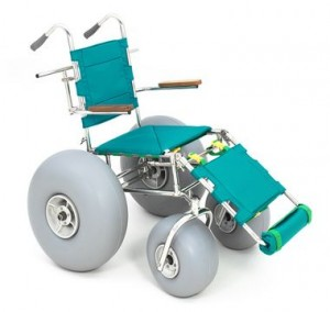 A beach wheelchair