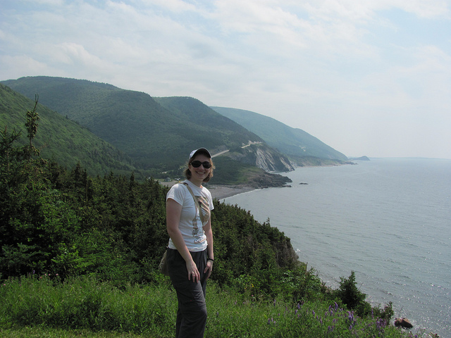 The author on the Cabot Trail, Cape Breton, NS