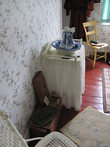 """Anne's Room"" at Green Gables, complete with physical details from the first book's plot. Photo by the author."