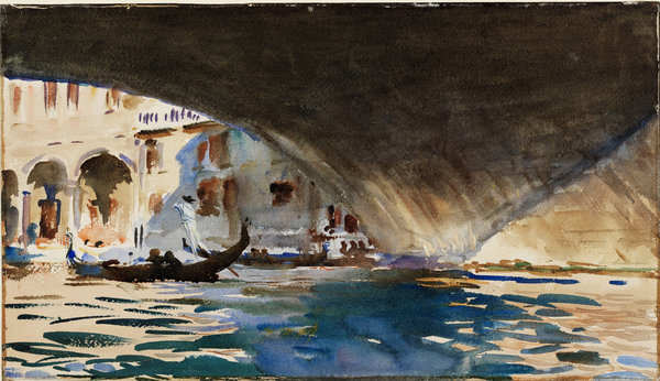 Underside of the Rialto Bridge, Venice, by JS Sargent