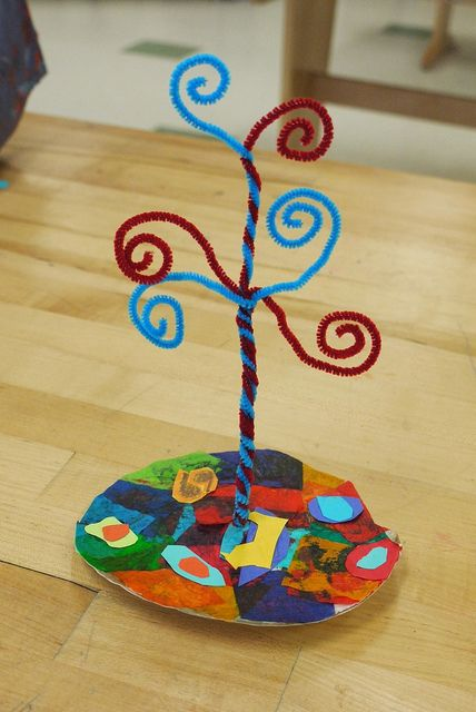 Inspired by the Tree of Life, 5th grade project
