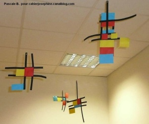 Mondrian mobile, from a French elementary classroom