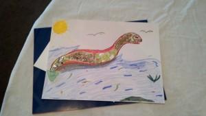 Mixed media sea serpent!