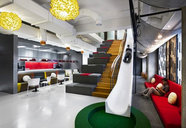 Office slide at M Moser Associates
