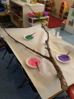 twig painting