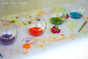 Flower watercolors from Learn Play Imagine