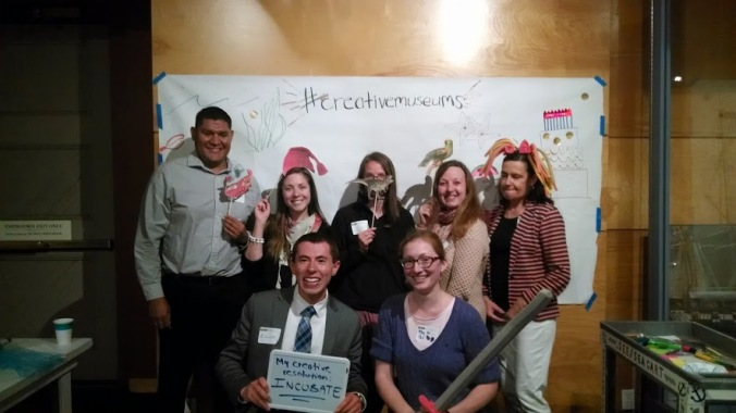 The PEM contingent at the #creativemuseums DIY photobooth.  Yes, I'm the one with the sword.