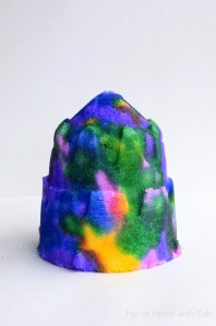 Painted salt sculpture from Fun at Home with Kids