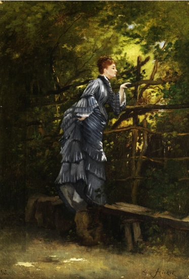Woman Looking Over a Fence by Leon Richet.  (public domain, image courtesy of Wikimedia Commons)