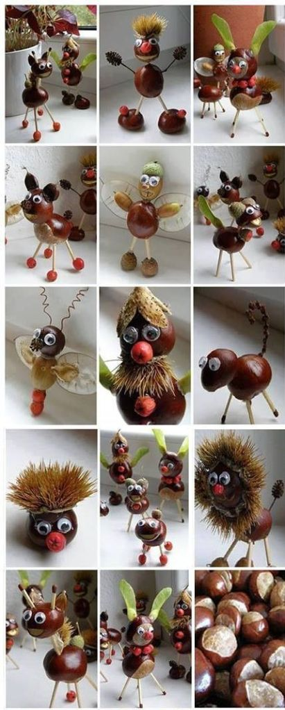 Creating seed and nut sculptures (click for source, warning, it's in Dutch!)