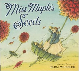 A nature fantasy about a seed guardian who shepherds her charges through the winter and safely out into the world to sprout in spring.  Very sweet book by Eliza Wheeler.  Click for Powell's link.