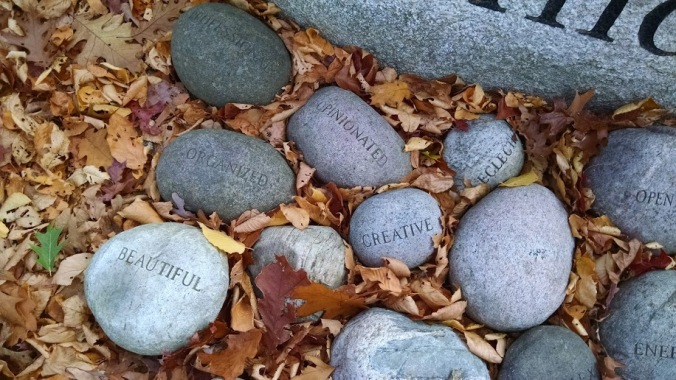 What will your guiding words for this year be?  Photo of sculpture from outside the Fuller Craft Museum, photograph by Meg Winikates.